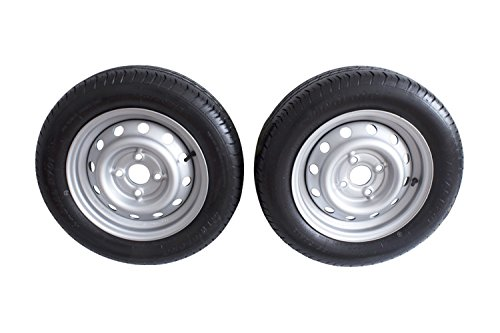Bundle–Juego 2ruedas Uni Trailer 155/70R134jx1375N LK 4x 100para automóviles de colgante