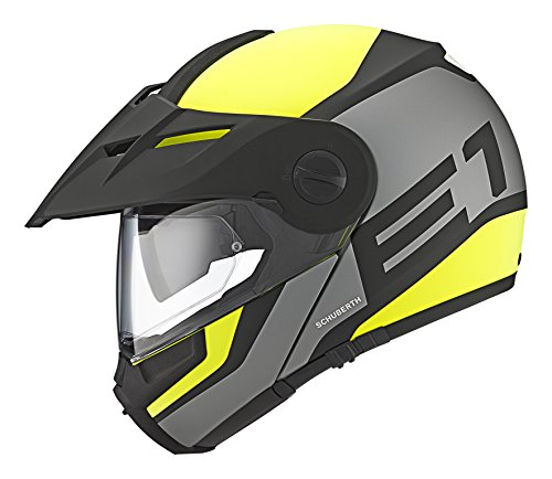 SCHUBERTH E1 Guardian Yellow Casco Modulare (M,giallo)
