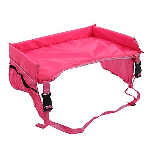 Alicer Kinder Reisetisch Kindersitz Spiel und Knietablett Reisetisch,Multifunktional Einstellbar Esstisch Spieltisch Autositz(Red)