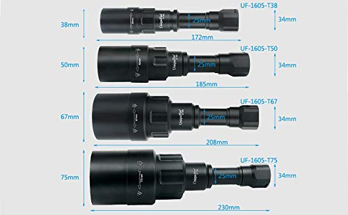 UniqueFire Upgrade UF1605 NV IR 940NM T67 LED Flashlight / 3 Mode Memory Settings/Zoomable Torch with USB Interface