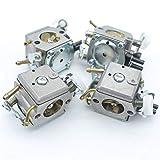 Tiempo Beixi 4pcs / Lot Carby carburador Compatible con Husqvarna 365 371 372 372 362 XP Motosierra 503281801 503283203 Motor Motor Parts
