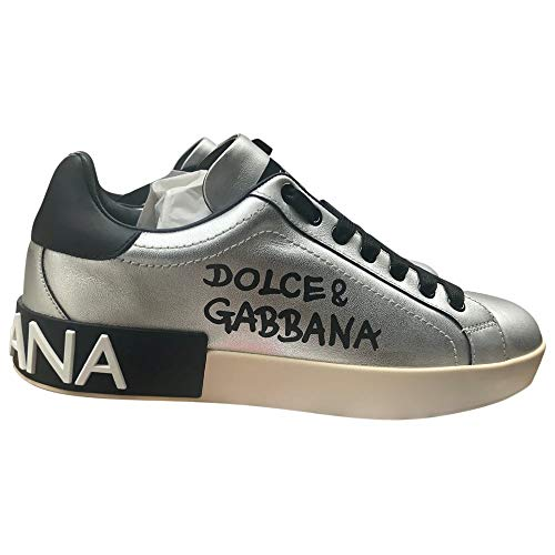 Dolce & Gabbana Silver Portofino Sneakers New/Authentic (10)