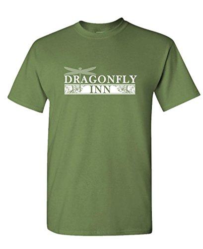 Dragonfly INN - tv 90's Retro Vintage - Mens Cotton Tee, XL, Military