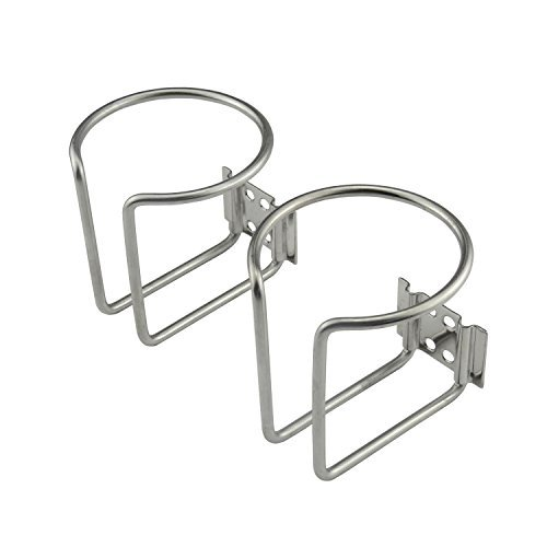 Plum Garden 2pcs Stainless Steel Boat Ring Cup Drink Holder for Marine Yacht Truck RV