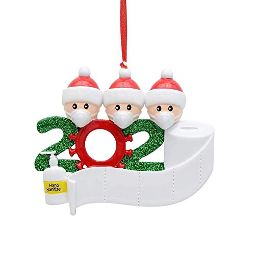 SeKunmRy 2020 Survivor Personalized Family Christmas Ornament with Toilet Paper-Customized Christmas Party Decorating Kit-Creative Xmas Gifts for Grandkids Co-Workers Friends、
