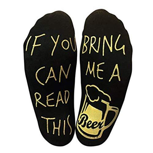 VIccoo Mannen Unisex Huis Vloer Korte Over Enkel Boot Sokken Anti-Skid Rubber Grappige Humor Woorden Gedrukt Zool Gekamd Katoen Bier Luie Hosiery