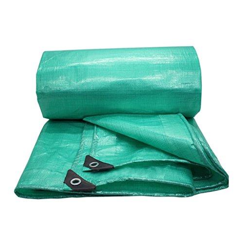 YUJIE groene waterdichte regenmantelstof, het zeil is verdikte plastic doek driewielig vrachtwagenzeil dikte 0,4 mm, 200 g/M2, keuze uit 15 maten, 2 x 2 meter geschenken