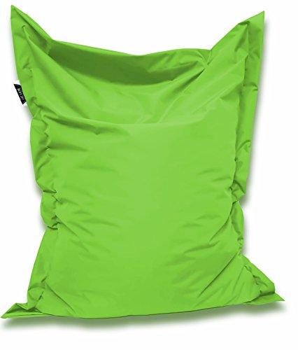 Patchhome Sitzsack und Sitzkissen Eckig - Kiwi - 100x70cm - in 25 Farben und 7 versch. Größen