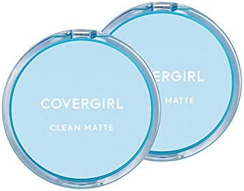 Covergirl Clean Matte Pressed Powder Classic Ivory 0 35 Oz Pack of 2 Packaging May Vary product image