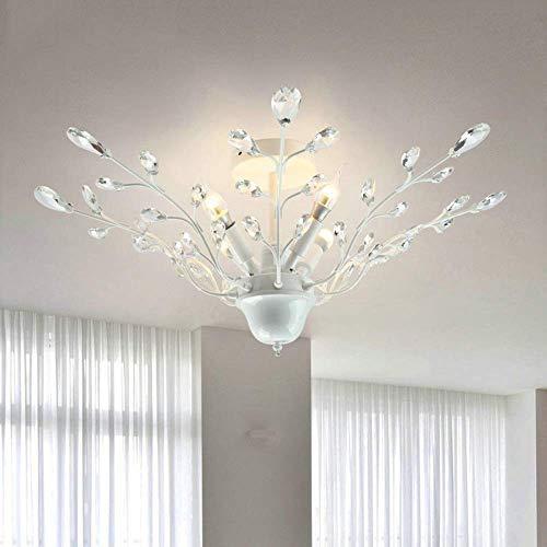 HYY-YY luz de cúpula de hierro americano arte arte cristal blanco araña...
