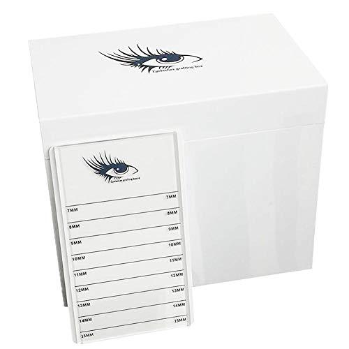 Wimpern Aufbewahrungsbox, Pfropfen Wimpern Aufbewahrungsbox,10 Schicht Weiß Große Kapazität Acryl Aufbewahrungsbox für Wimpern Display Board Or Nagel