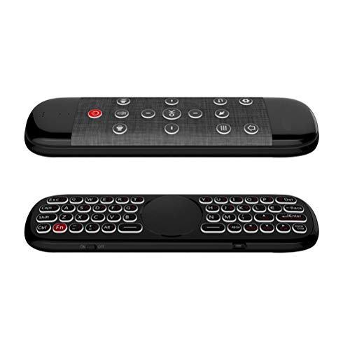 NANUNU Control Remoto-2.4G Wireless Fly Mouse Micrófono de Control Remoto por Voz Mini Teclado Compatible con Smart Android TV Box PC