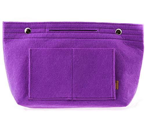 Taschenorganizer aus Filz – Schminktasche – Make-Up Tasche Handtasche Organizer – Bag in Bag - Kulturtasche (Lila)