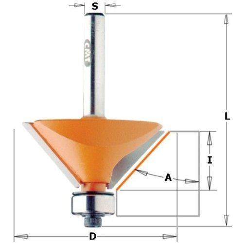 CMT Orange Tools 836.420.11 – Fraise pour biselar avec Rodam. 45 degrés HM S 6.35 d 45