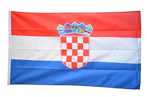 Flaggenfritze Fahne/Flagge Kroatien - 150 x 250 cm + gratis Sticker, XXL-Fahne