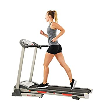 Sunny Health & Fitness Exercise Treadmills Motorized Running Machine for Home with Folding Easy Assembly Sturdy Portable and Space Saving - SF-T7603 Grey