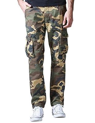Match Men's Casual Wild Cargo Pants Outdoors Work Wear (Khaki max, XL/34)