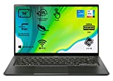 Acer Swift 5 - Portátil 14' FullHD (Intel Core i5-1135G7, 8GB RAM, 512GB SSD, Intel Iris Xe Graphics, Windows 10 Home), Color Negro - Teclado Qwerty Español