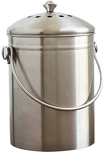%46 OFF! Natural Home WP77 SS Compost Bin /1.3 gallon