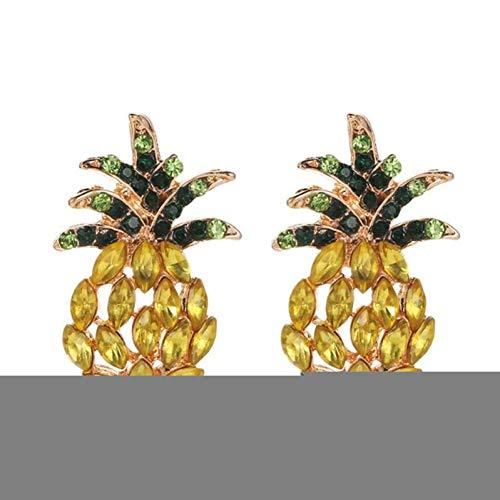 BLINGBRY creatieve strass uitgeholde ananas oor stud vrouwen oorbellen sieraden legering onderdelen uitgeholde ananas