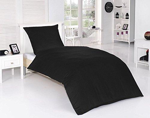 4tlg Baumwolle Damast Bettwäsche Set Hochwertige Mako Satin Qualität Einfarbig Uni Weiß Übergröße 155x220cm Neu mit RV