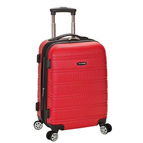 Rockland Melbourne Hardside Expandable Spinner Wheel Luggage, Red, Carry-On 20-Inch