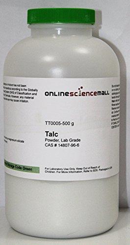 500g Bottle of Talc Powder, Hydrous Magnesium Silicate - Lab Grade Reagent