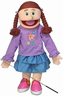 """25"""" Amy, Peach Girl, Full Body, Ventriloquist Style Puppet"""