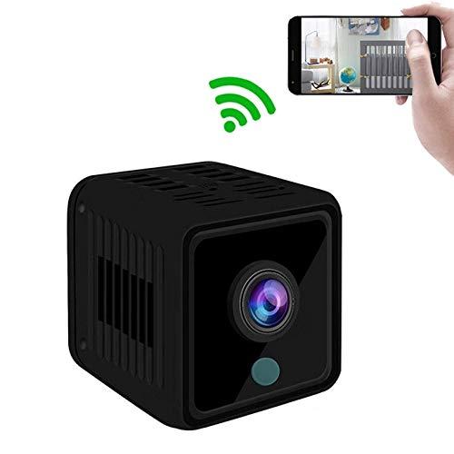 WiFi Mini Spy Cámara HD 1080P Inalámbrico para Vigilancia de Seguridad En el Hogar Bebé con Visión Nocturna y Grabación de Bucle ( Color : +8G Memory Card )
