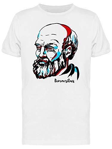 Camiseta masculina Philosophy Graphic Of Democritus, Branco, 4XG