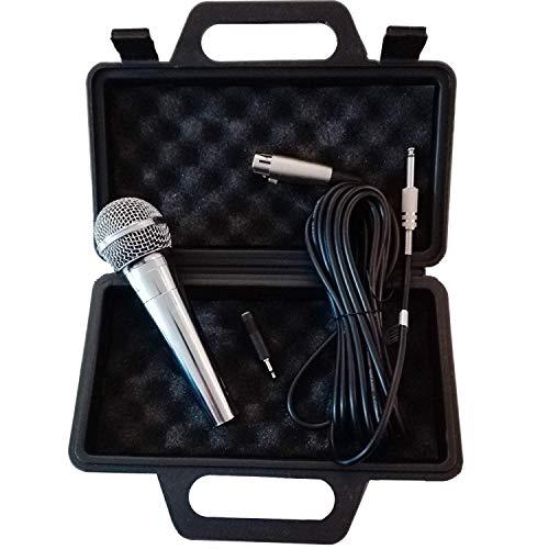 Eurosell - Micrófono dinámico Premium - Plata - Canto & Escenario +...
