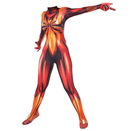 SPIDERMANHTT Weibliches Abendkleid Prom Kostüm Cosplay Superheld Spiderman Spinnen-Mädchen-Strampler Anzug Kinder Erwachsene Overall-Thema-Partei-Strumpfhosen 3D Print Spandex Lycra