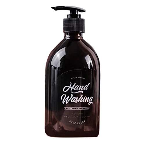 500 ml nachfüllbare leere Plastikflaschen mit Pump Top Shampoo Duschgel Lotion Pumpspender für Make-up kosmetische Toilettenartikel Flüssigkeit