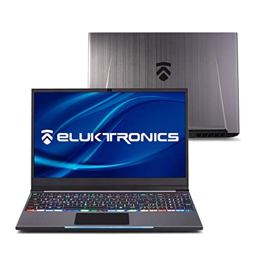 "Eluktronics MECH-15 G2Rx Slim & Light NVIDIA GeForce RTX 2060 Gaming Laptop with Mechanical RGB Keyboard - Intel i7-9750H CPU 6GB GDDR6 VR Ready GPU 15.6"" 144Hz Full HD IPS 1TB NVMe SSD + 32GB RAM"