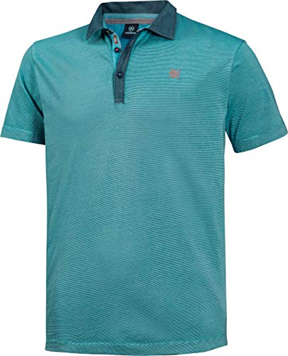 LERROS Herren Polohemd in Türkis, Kurzarm-Poloshirt aus 100% Baumwolle, angenehmer Modern Fit-Schnitt, Gr. 48-60