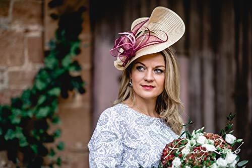 U37 Hut Royal Ascot hat Ballhut Kentucky- Derby hat Pferderennen couture Millinery Sinamay hat Hochzeit Fascinator