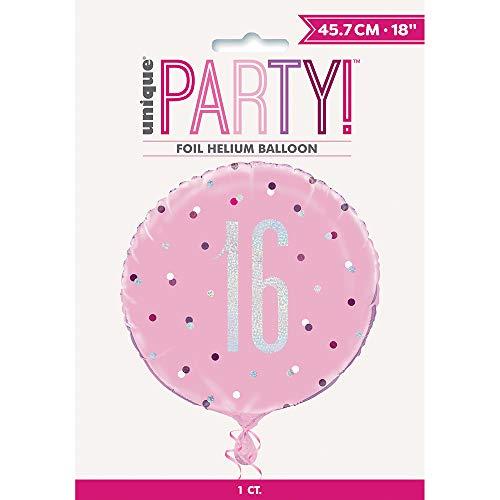 Unieke partij 56450 Ballonnen Folie Ballon Age 16 roze