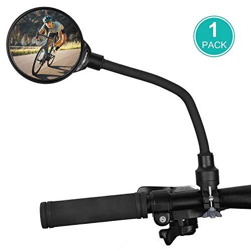 WESTGIRL Fahrradspiegel, 360 ° Verstellbar und Drehbar Fahrrad Spiegel, Convex HD Weitwinkel Rückspiegel für Lenker, Stoßfest Safe Radfahren Spiegel Universal für Mountainbike Rennrad E-Bike, 1 STÜCK