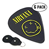 ニルヴァーナ Nirvana ギターピック 6枚/セット ウクレレ エレキギター 3種厚さ プリントデザイン お洒落 目立ち バリ無し 尖らず