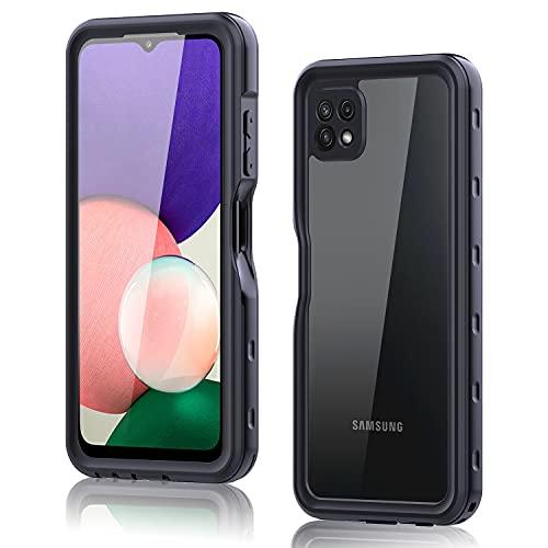 YEON Funda Impermeable para Samsung Galaxy A22 5G (6.6''), IP68 Certificado Heavy Duty Sumergible Carcasa [Protección de 360 Grados] a Prueba de Golpes Resistente al Polvo Carcasa