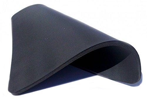 RICOO SM3838, Silikonmatte, rutschfest, Schwarz, Maße 38x38x1 cm, Ersatzmatte Kautschukmatte, Transferpresse, Thermopresse, T-Shirt Presse