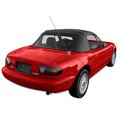 Compatible With Mazda Miata Convertible Top with Plastic Window Black Cabrio 1989-2005