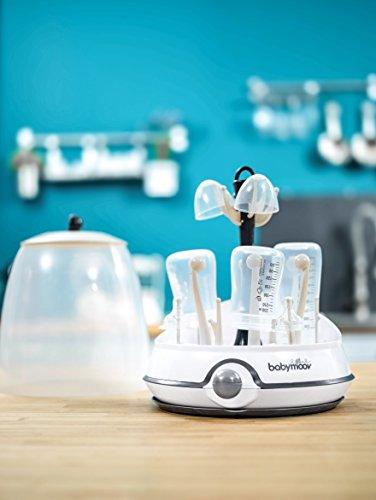 Babymoov Turbo Dampfsterilisator, für bis zu 6 Flaschen und Zubehör, 2-in-1 Sterilisator und Trockenständer für Babyflaschen - 3