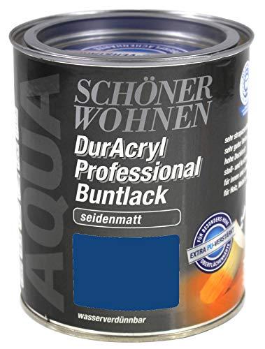 Schöner Wohnen DurAcryl Professional Buntlack 0,75L enzianblau RAL 5010 sm
