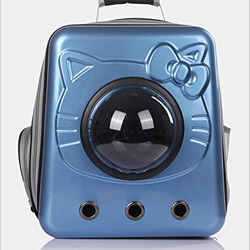 AYDQC Mochila de Gatos, Caja cómoda, Transpirable, aerolínea, Bolso, Perro y Mochila de Gato, Bolsa de Hombro.Azul fengong ( Color : Blue )