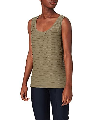 Betty Barclay Siri 4 T-Shirt, Oliva impolverato, 48 Donna