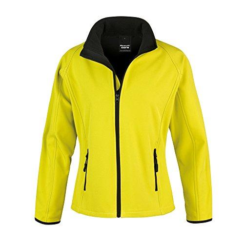 Result Core Damen Softshell-Jacke, bedruckbar (XL) (Gelb/Schwarz)