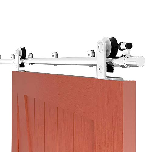CCJH 150CM Herraje para Puerta Corredera Acero Inoxidable Kit de Accesorios, Guia Riel Puertas Correderas, Forma T