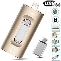 Qarfee 128GB Thumb USB 3.0 OTG Flash Drive