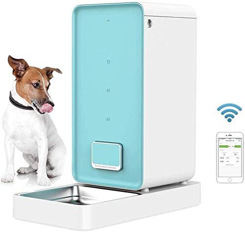 Pkfinrd Automatische huisdiertoevoer, wifi-compatibele Pet Feeder, app voor iOS Android, timer programmeerbaar, fris lock-systeem, voederautomaten voor katten en honden